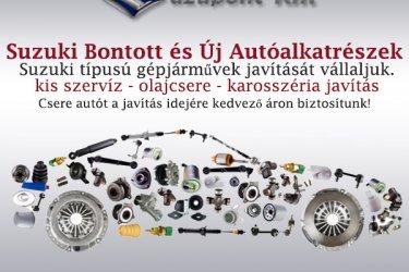Suzuki bontott és új alkatrészek. Suzuki karosszéria javítás, olajcsere.