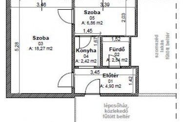 1.5 szobás felújított lakás kiadó Miskolcon, Vászonfehérítő 64. 6/6.