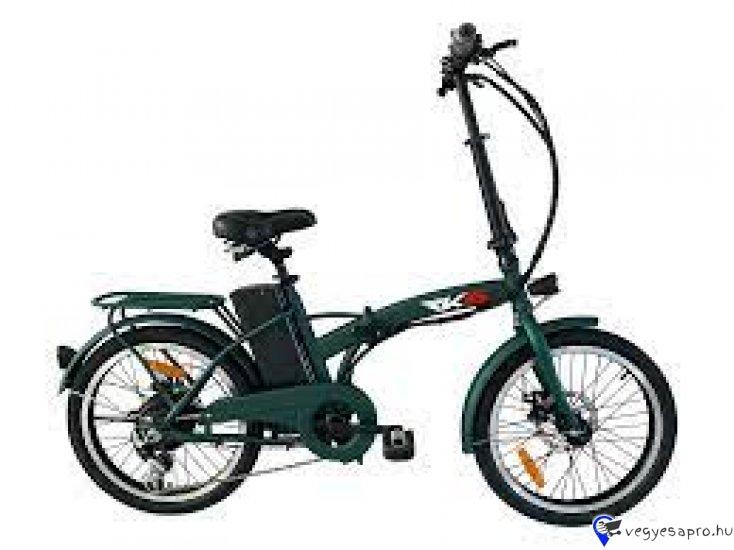 """További elektromos járműveinket megtekintheti a www.z-oil. hu weboldalon.  Bruttó kisker ár: 228 600.- HUF / db Érvényes hirdetett bruttó Akciós ár: 197 900.- HUF / db   Kuba MX-25 Rks Pedelec Elektromos Kerékpár Összecsukható Új!  Elérhető színek: Fehér, Fekete, Zöld Pályázható: IGEN AKKU: 36V7, 8Ah li-ion akkumulátor, Teljesítmény: 250W motor Meghajtás: hátsó kerék hajtás, Kerekek: 20"""" kerék, Fékek: tárcsafékek, Hatótáv: 30km Töltési Idő: 4-6 óra Súly: 24 kg Egyéb felszereltség: Összecsukható váz és kormány, kemping kerékpár, Shimano 6 sebességes váltóval, LED kijelző, csomagtartó, elektromos kürt, LED-es első-hátsó világítás, oldaltámasz, első-hátsó sárvédő, három fokozatú motornyomaték szabályozóval, energia visszanyerő és pedál rásegítő rendszerrel, akkumulátora csak 2,5 kg, amely kivehető és külön is tölthető  Besorolás: CE, jogosítvány nélkül, bukósisak nélkül, biztosítás nélkül vezethető  A fenti áron az üzletünkben: összeszerelt, üzembe helyezett állapotban átvehető. Futárszolgálatos postázásra nincs lehetőség.  A Készlet Frissülésével Az Árváltoztatás Jogát Fenntartjuk!"""